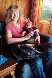 Heidi with new grandson