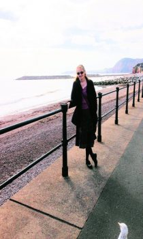 Linda MacDonald on a research trip to Sidmouth
